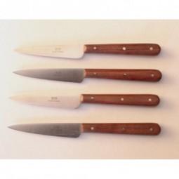 4 couteaux office lames 8 cms inox manche inox COUTEAUX DE CUISINE