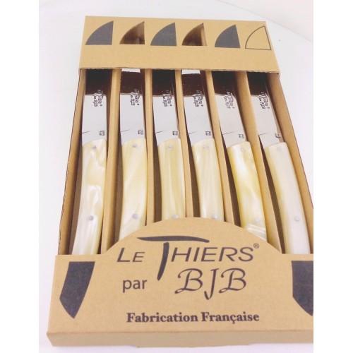 coffret 6 couteaux Le THIERS manche plexi peche LES COFFRETS