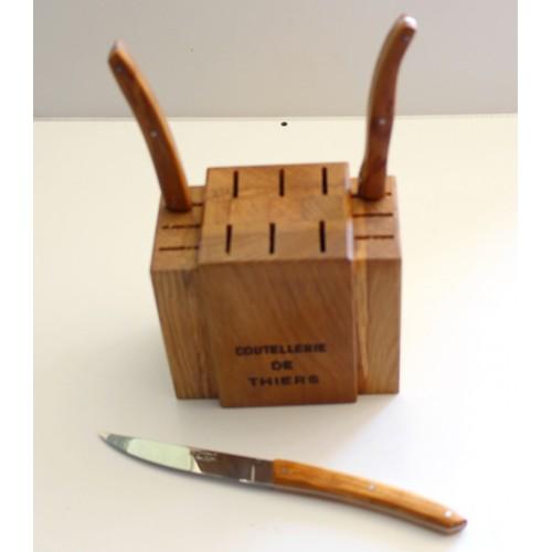 Bloc cuisine en bois de chene pour 12 couteaux de table LES ACCESSOIRES