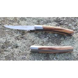 Couteau Le Thiers® ,Fermant , 10 cms , manche en bois de Serpent COUTEAUX FERMANTS