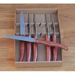 Coffret 6 couteaux de table Laguiole ,manche en bois de palissandre LES COFFRETS